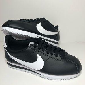 Nike Classic Cortez Leather Black/White Wms Sz6.5